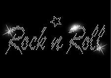 Rock and Roll Hen Noche En Hierro Eslogan Cristal Camiseta Transferir Cumpleaños 70s 80s