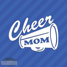 Cheer Mom Megaphone Vinyl Decal Sticker Cheerleading Squad Sports School Spirit