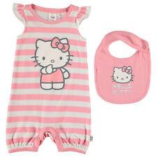 Lot bébé barboteuse combicourt bavoir HELLO KITTY 0-3 / 3-6 / 6-9 ou 12-18 mois