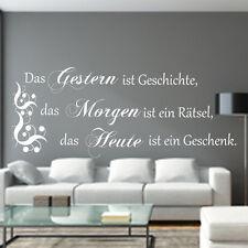 Wandtattoo Wohnzimmer Spruch Das Gestern ist Geschichte...Wandaufkleber