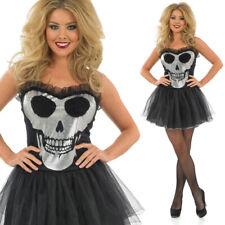 Disfraz de Halloween señoras Calavera Esqueleto-Esqueleto Tutú Fancy Dress Costume