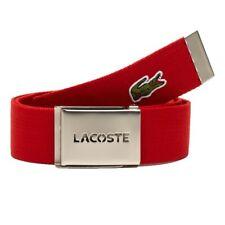 Lacoste Men's Woven Webbing Belts - Red - RC1287-240