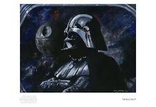 Contemplative Darth Vader Death Star Star Wars Universe Artwork Giclée on Paper