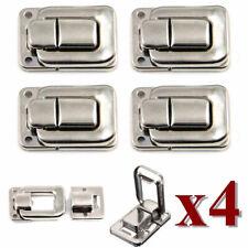 4pcs Toggle Case Catch Latch Trunk Closure Box chest Suitcase Bag lock silver