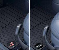OEM Mini Cooper R53 R52 Black Rubber Floor Mats Cooper S / Wings Logo Front Rear