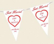 mariage personnalisé BRUANT - Bannière - Just Married choix parmi drapeau