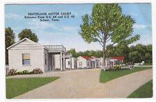Southland Motor Court Motel Selmer TN postcard