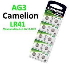 Camelion Knopfzellen AG3 G3 LR41 SR41W GP392A 392 Alkaline 0% HG Uhren Batterien