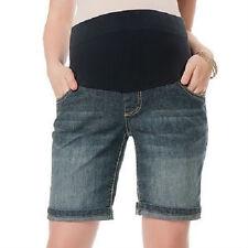 Oh Baby by Motherhood™ Mid-Belly Cuffed Denim Bermuda Shorts