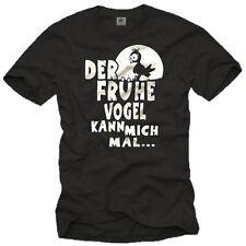 Lustige Fun T-Shirts DER FRÜHE VOGEL KANN MICH MAL witzige Sprüche Kult Aufdruck