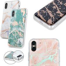 Marmoriert TPU Stein Design Glitzer Muster Hülle Case Samsung Galaxy A7 2018