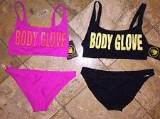 NWT Body Glove Logo 1989 The Look Wild Thing Babe Bikini Swimsuit Set Women's