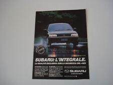 advertising Pubblicità 1991 SUBARU LEGACY 1.8 e 2.2