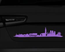 Aufkleber Chicago Skyline mit Sehenswürdigkeiten  11 Farben 2 Größen