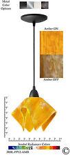 Jezebel Radiance Amber Yellow Gold Small Pendant Light (Black)