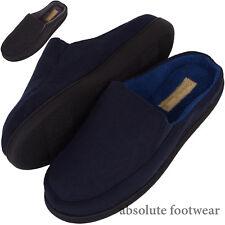 Mens Resbalón en Zapatillas/Zapatos Mulas/Interior con parte superior de gamuza suave Micro