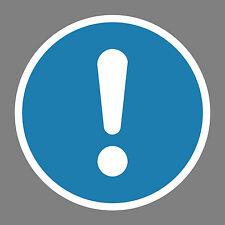 Allgemeines_Gebotszeichen  Aufkleber Sticker Schild Hinweis Verbotsschild