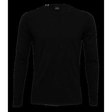 Replay Long-Sleeve Crew-Neck T-Shirt, Black
