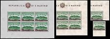 ** San Marino 1961: EUROPA CEPT [Singoli Quartina Foglietto; MNH XF]