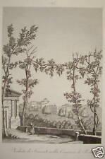 1845-VEDUTA FRASCATI ROMA-INCISIONE ZUCCAGNI-ACQUAFORTE