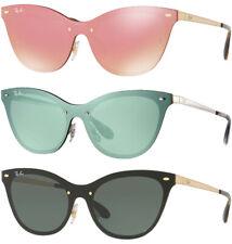 Ray-Ban Blaze Women's Brushed Metal Rimless Cat-Eye Sunglasses - RB3580N