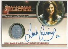 Battlestar Galactica Season 4 Costume Autograph Leah Cairns Lt. Edmondson