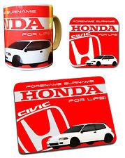 Honda Civic Personalised Collection - Mug, Coaster & Mouse Mat