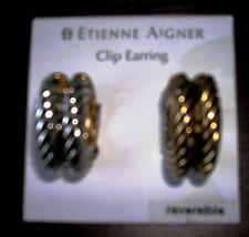 *ETIENNE AIGNER*  Clip Earrings Reversible