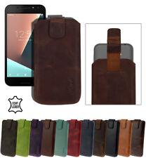 Vodafone Smart N8 Tasche Slim Case Schutzhülle Hülle Cover mit Rückzug 10 Farben