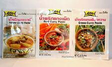 2x Lobo-estilo tailandés Curry Pasta 50g [ Verde, Rojo Y Amarillo Curry Pegar ]