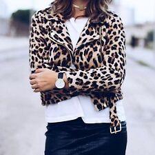 Zara Animal Print Leopard Short Jacket with belt New Bloggers 7794/300 ALL SIZES