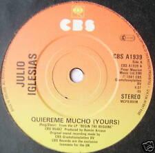 "JULIO IGLESIAS - Quiereme Mucho - Ex Con 7"" Single"