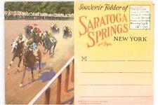 Saratoga Springs & Spa Souvenir Folder Circa 1937