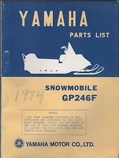 1974 VINTAGE YAMAHA SNOWMOBILE GP246F PARTS MANUAL USED