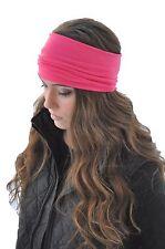 Womens Wide Headband Stretch Girls Hair Bands Black Gray Pink Purple Fashion