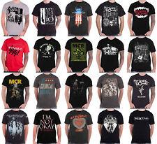 Official My Chemical Romance T Shirt Black Parade Band Logo danger days Mens