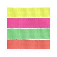 2, 5, 10 o 15m 30mm cinta De Cincha de neón acrílico 100% Tapicería Craft