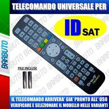 TELECOMANDO UNIVERSALE ID-SAT, CLICCA IL TUO MODELLO LO RICEVERAI GIA PRONTO