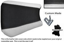 Blanco Y Negro Custom 00-01 Fits Yamaha 1000 Yzf R1 real de piel cubierta de asiento