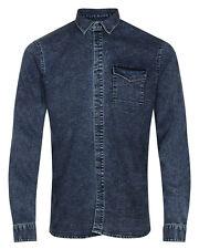 Anerkjendt Rukoling Jeanshemd Denim Shirt blau Herren Langarm Hemd Humör blue