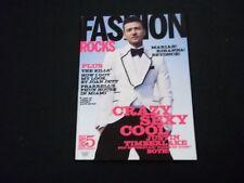 2008 FALL FASHION MAGAZINE - JUSTIN TIMBERLAKE - BEAUTIFUL FRONT COVER - A1143