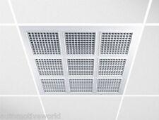 Pannelli Soffitto Sospesa 595mm x 595mm Quadrato Soffitto Mattonelle Griglia Sfiato Aria