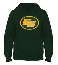 Men's Edmonton Eskimos Green Primary Logo CFL Football Hooded Sweatshirt Pockets