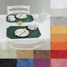 Platzset 2er Set Circle ca 30x45 Tischset damast  Farbwahl festlich modern #191