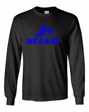 BRAAAP Long Sleeve T-Shirt Ski-Doo Arctic Cat Polaris Yamaha Blue Sizes to 5X!
