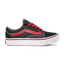 Scarpe Vans Young Comfycush Old Skool Pop Black Red