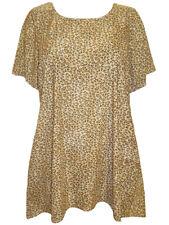 Marina Kaneva NEW Beige & Brown Short Sleeve Printed Tunic UK 16 to 26/28