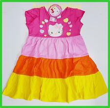 BNWT Hello Kitty cartoon girls kids ruffle dress new summer outfit