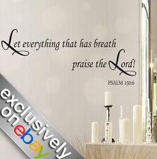 """Parete In Vinile Arte Adesivi Bibbia preventivo """"non tutto ciò che"""" Salmo 150; 6 Decalcomanie Parete"""