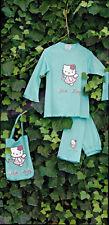 Pigiama Hello Kitty Lungo Invernale Azzurro Sanrio Gabel  6/7 8/9 10/11 anni